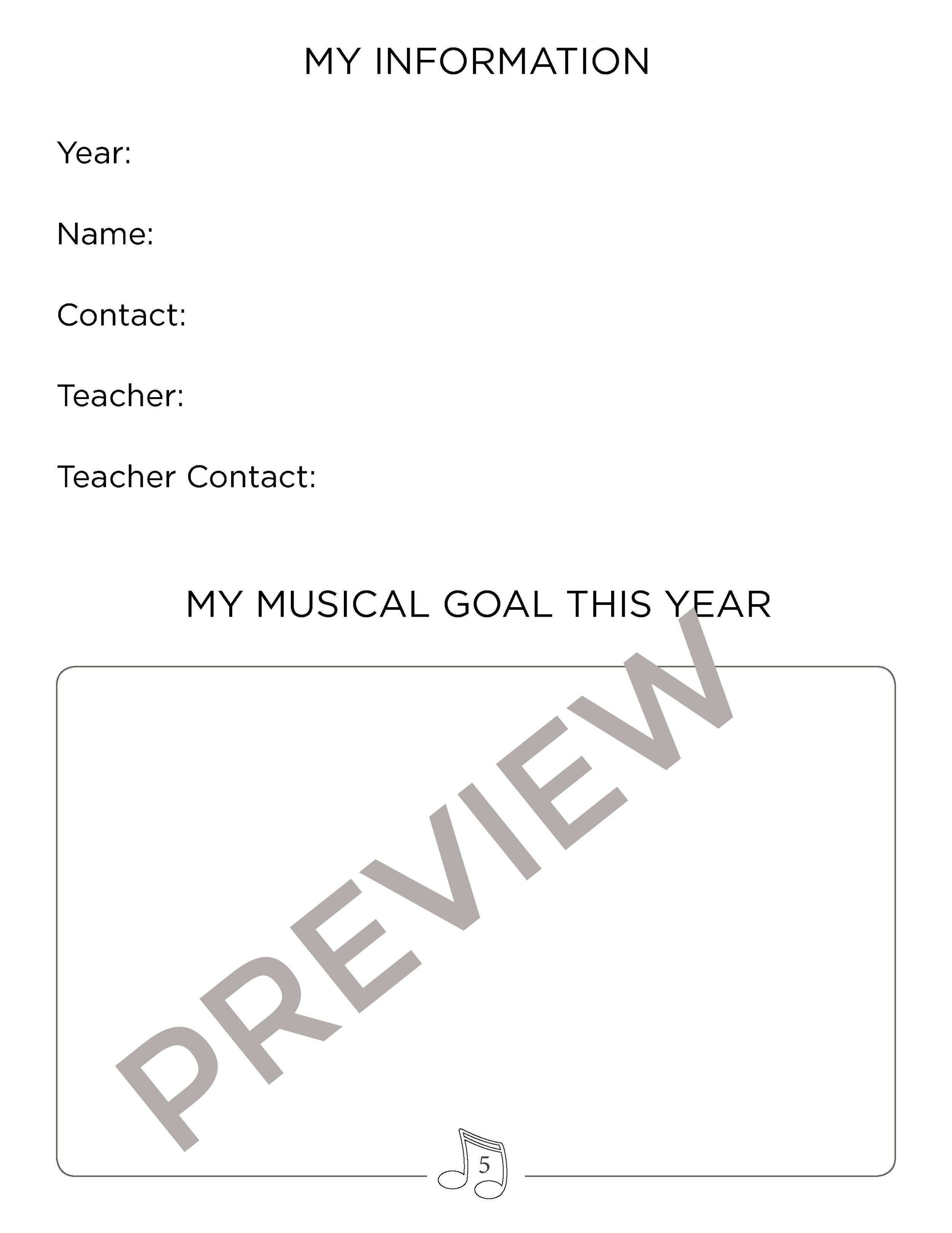 Setting Goals - Creating goals is such an important and powerful step to take with each student at the beginning of every year. What is their goal in music? Maybe they would like to perform in a recital or compete in a festival. Maybe they want to memorise a certain number of pieces or build up a good practice routine. Setting goals and checking in with the goal throughout the year helps motivate and encourage students, parents and teachers!