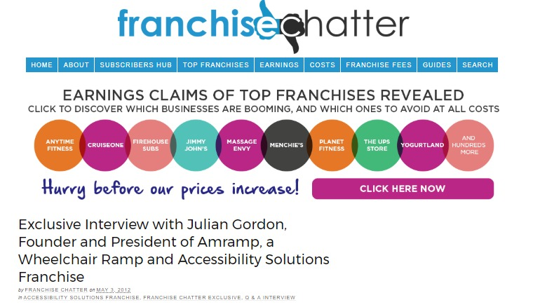Amramp s Founder Talks About His Wheelchair Ramp and Accessibility Solutions Franchise   FRANCHISE CHATTER.jpg