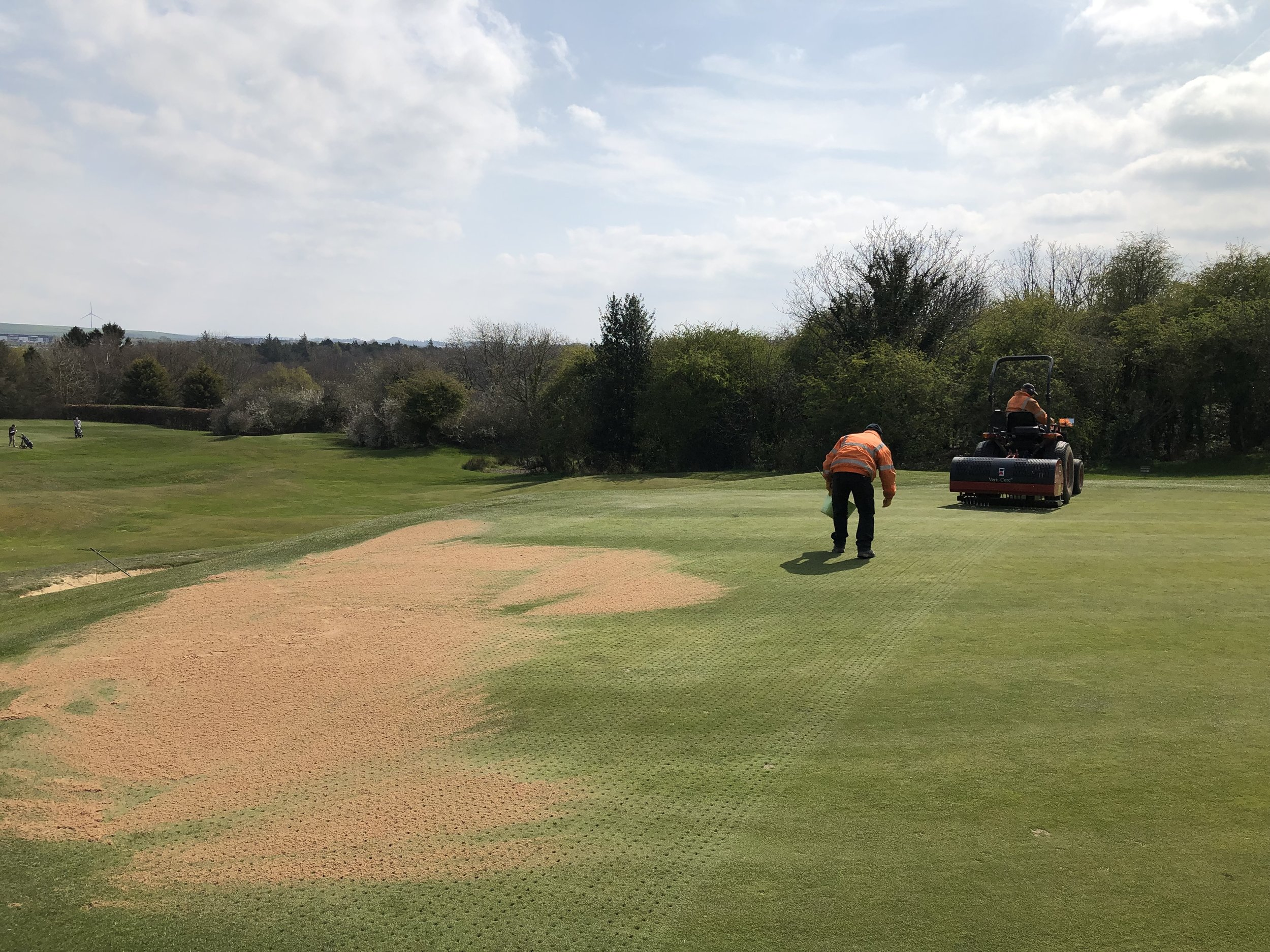 Work on the 2nd Hole
