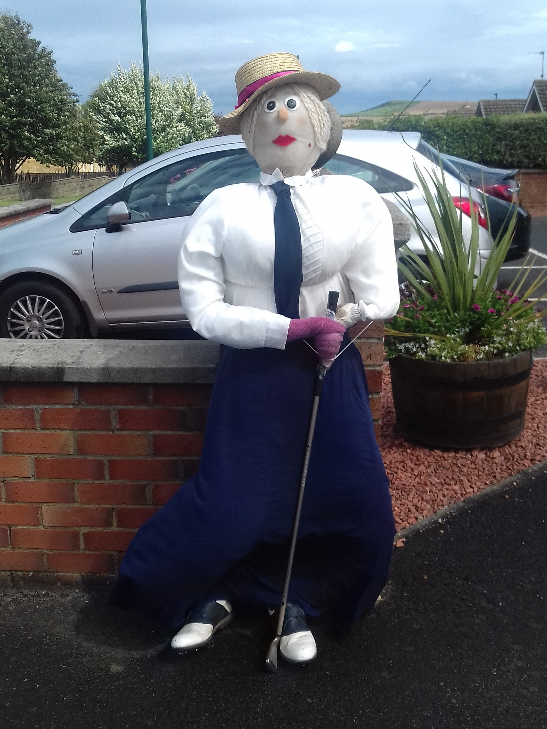 Saltburn Golf Clubs Lady Scarecrow