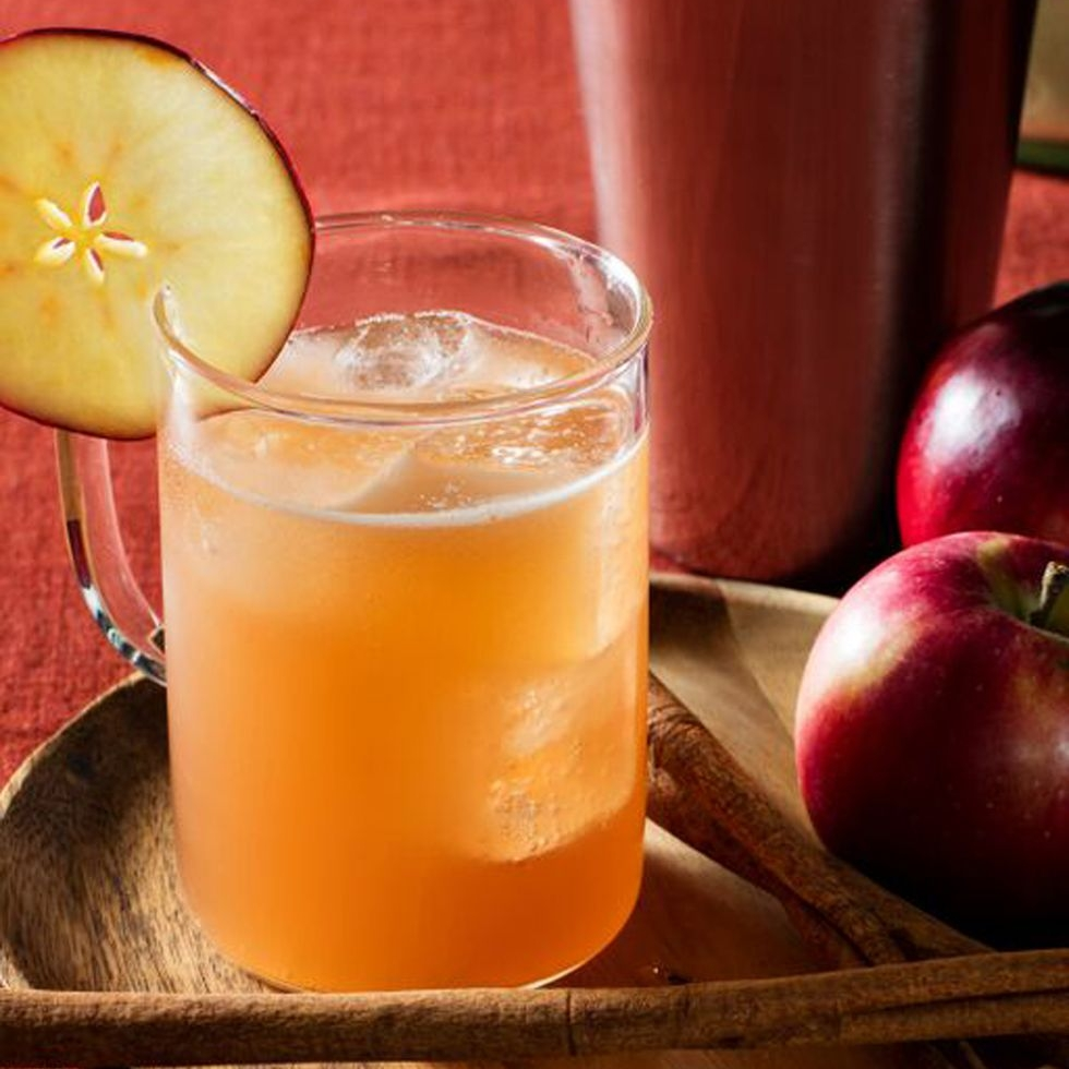 CARAMEL APPLE MULE - 1.5 oz Absolut vodka.5 oz caramel syrup1 oz apple ciderSee it here