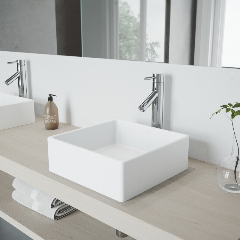 While choosing a bathroom tile, don't forget to choose bathroom sink and faucet! Here there are the most popular bathroom sinks and faucets ideas for your modern bathroom | VIGO Industries