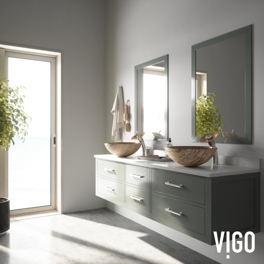 HOW TO GLAMORIZE ANY MODERN BATHROOM | VIGO Interior Design - Bathroom Sinks and Faucets - Ideas - Decor