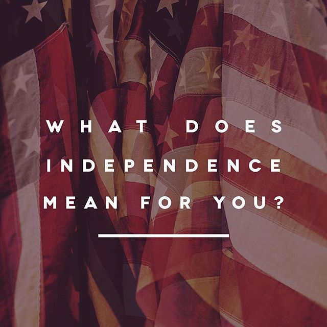 While we celebrate all the blessings we have today, take a minute and reflect on what Independence Day really means to you. #happyfourth #freedom