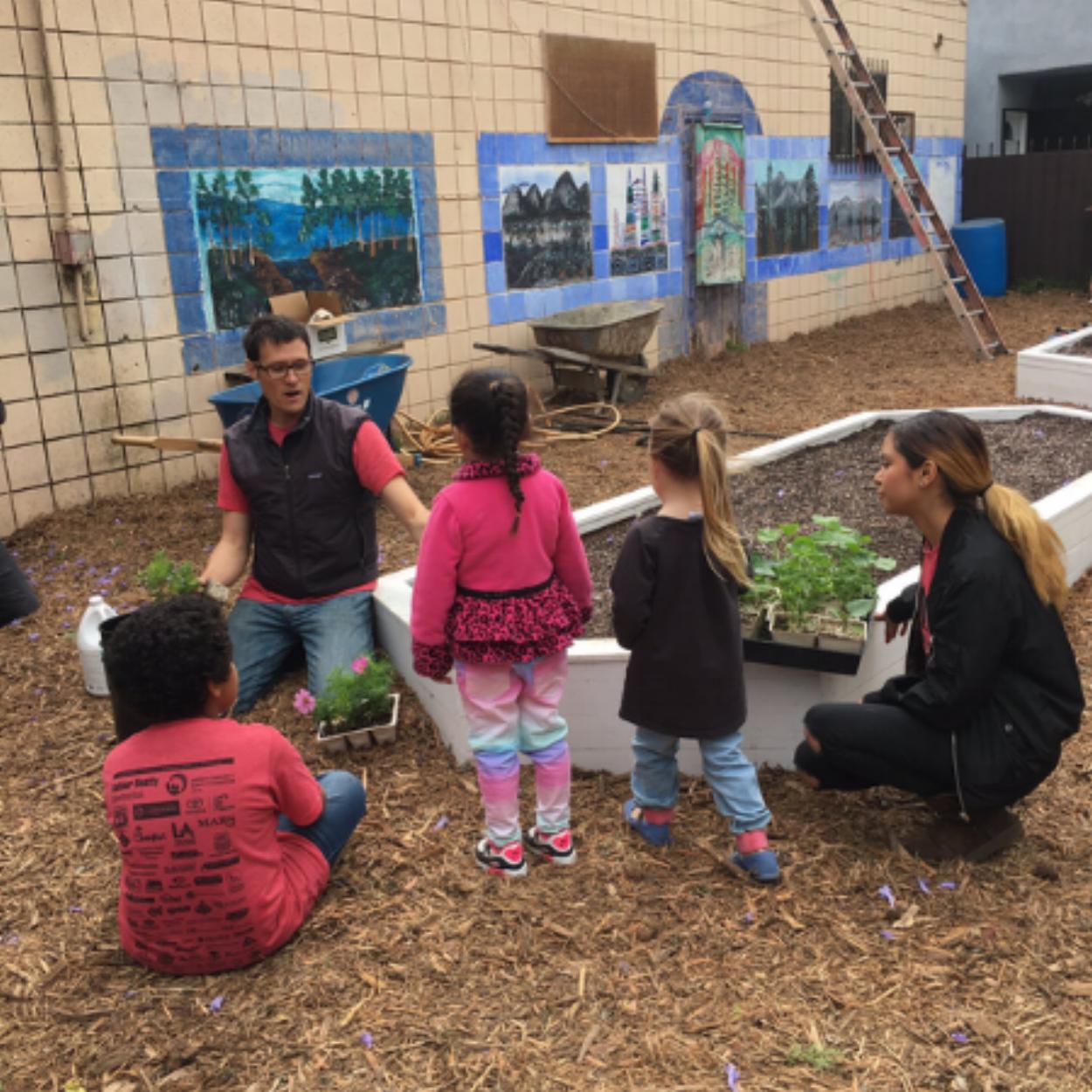 Teaching The Next Generation of Farmers Watts/Latino Community GRoW Garden
