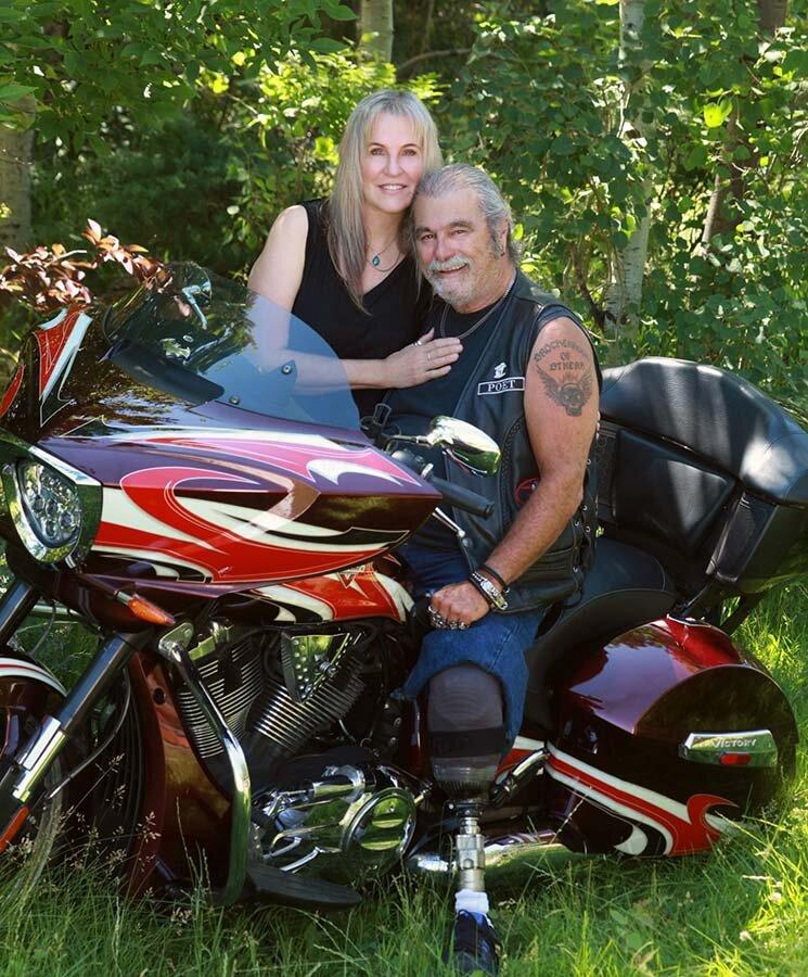 Dennis with his wife, Lauren.