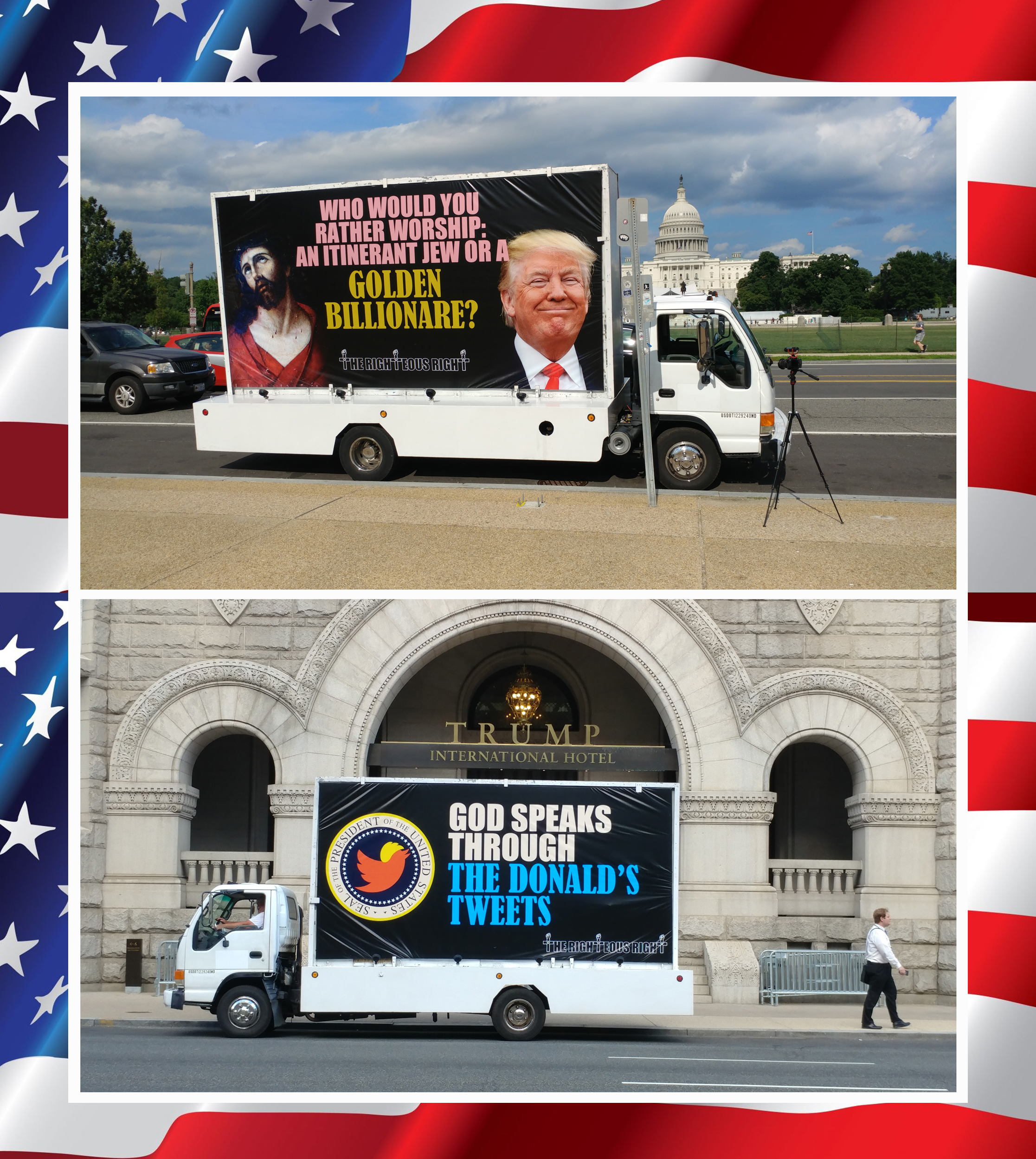 Mobile billboard wakes up Nation's Capitol! -