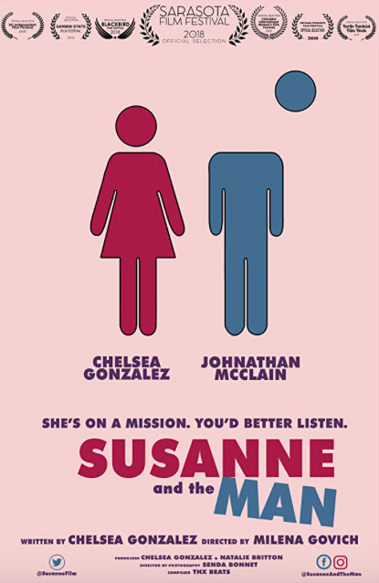 SUSANNE AND THE MAN is a light-hearted comedy that explores some of the darkest issues plaguing today's gender stereotypes. - Susanne has never been more prepared for the job interview she has lined up with Stan, a successful businessman. However, when Stan enters speaking in his own