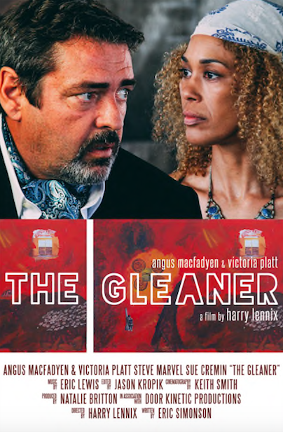 THE GLEANER explores the intangible cost of making great art, especially when it comes at the expense of the artist. - Lane, a serious purveyor of modern masterpieces, discovers his multi-million dollar purchase is a fraud - perpetrated by the beautiful assistant of the deceased artist. He has a few choices in front of him- will he do the honorable thing, the deceitful thing - or something far worse.Written by Eric Simonson and directed by Harry Lennix, starring Angus MacFadyen, Victoria Platt, Steve Marvel, and Sue Cremin. Produced by Natalie Britton in association with Door Kinetic Arts Festival.IMDB