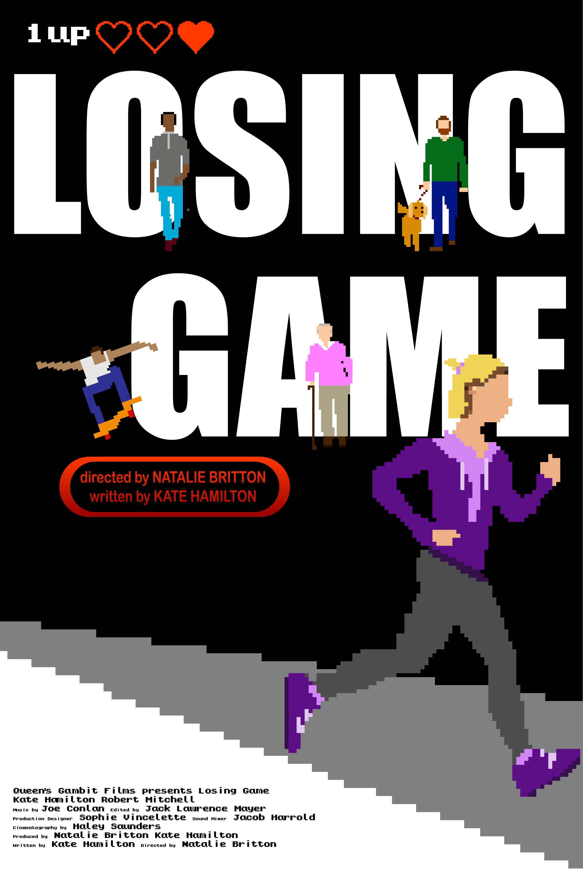 """Losing Game - """"Not playing isn't an option.""""Short film meets video game in this genre-bending piece inspired by the obstacles women navigate daily while simply trying to get from point A to point B.Written by Kate HamiltonDirected by Natalie BrittonQueen's Gambit Films"""