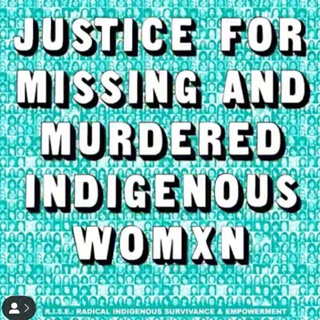 To see this amazing gif follow @riseindigenous. They are an empowered platform and I love them! Everyday should be #MMIW awareness day. It's a data crisis (Anita Lucchesi is working on it through the Sovereign Bodies Institute), and a capitalism, settler colonialism, patriarchy- caused problem. We benefit from these practices and therefore profit from #MMIW bodies. It's a press coverage crisis as well because so few people know about this. I am posting a day late, but May 5th was the day to acknowledge how rampant this issue is across the US and Canada. As white people we need to share this information. If you're scrolling past it, try pausing for a moment to feel the visceral impact...to know how many thousands of Indigenous sisters are missing or murdered because of land degradation, resource extraction, misogyny, and racism.