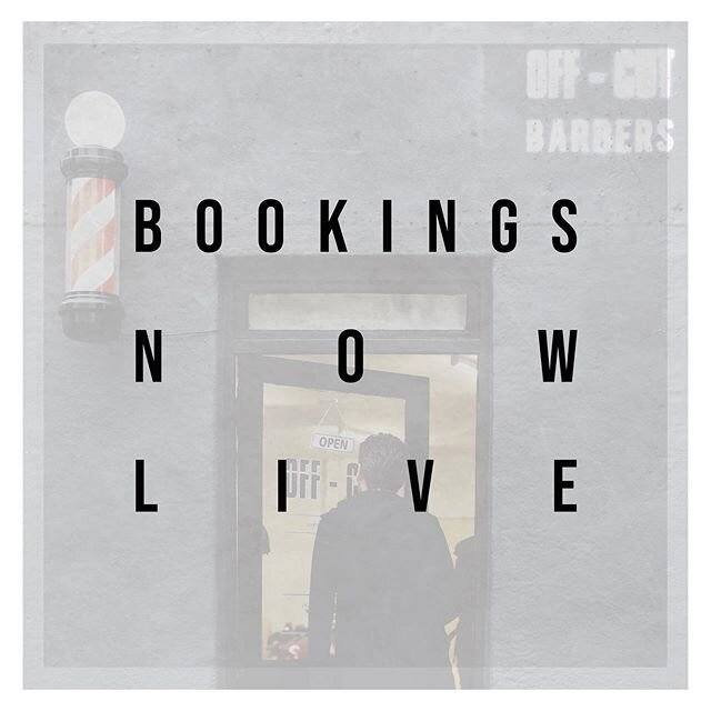 BOOKINGS NOW LIVE‼️ - Our reopening date of Saturday 4th July is now confirmed & our all new booking system is now LIVE! ——————— To book press Book Now on our Profile, Hit the Link In Bio, Head to the Website www.offcutbarbers.com OR download the FRESHA App + search for OFF - CUT. ——————— In the meantime please familiarise yourself with our Reopening Protocol by swiping across through the images - This encapsulates our new required way of working & some expectations we have for our ever supporting customers. —————— We are very excited to get back to it & look forward to seeing a lot you very soon!