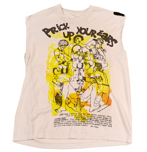 Prick up your ears, t-shirt design, Malcolm McLaren and Vivienne Westwood for Seditionaries, 1979