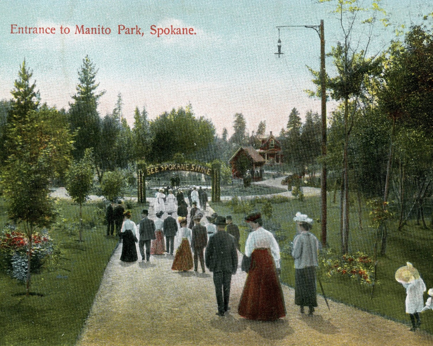 MANITO PARK   The promenade of yesteryear's gentry, the ground for Manito Park is lovingly laid with undertones of greenery and musk. Then, scents from the award-winning rose and lilac gardens waft on the breeze to mingle with exotic jasmine and Victorian tuberose in a turn-of-the-scent-ury blend that's anything but old fashioned.
