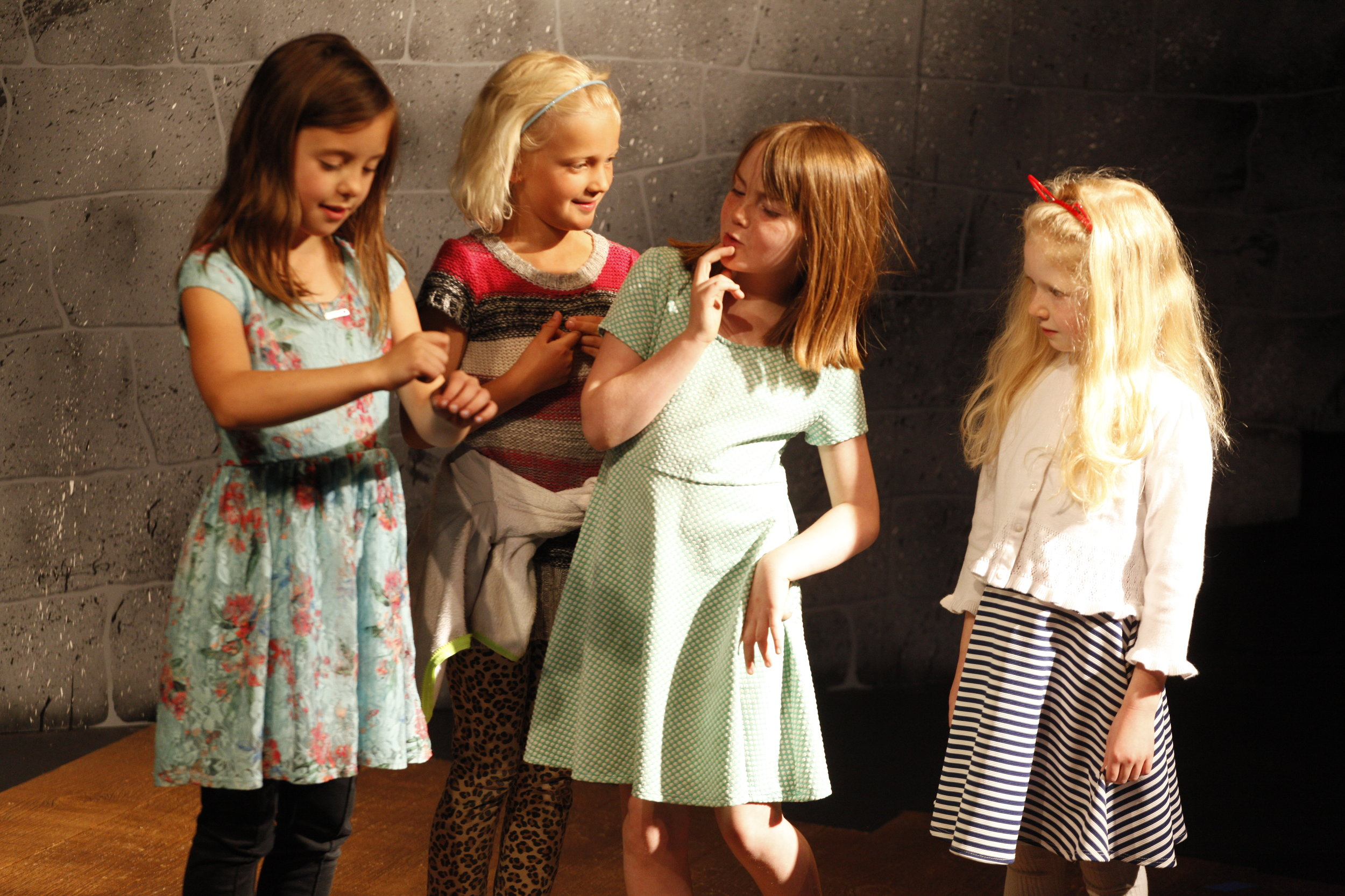 Kids class participants flex their creative muscles in their end-of-class performance!