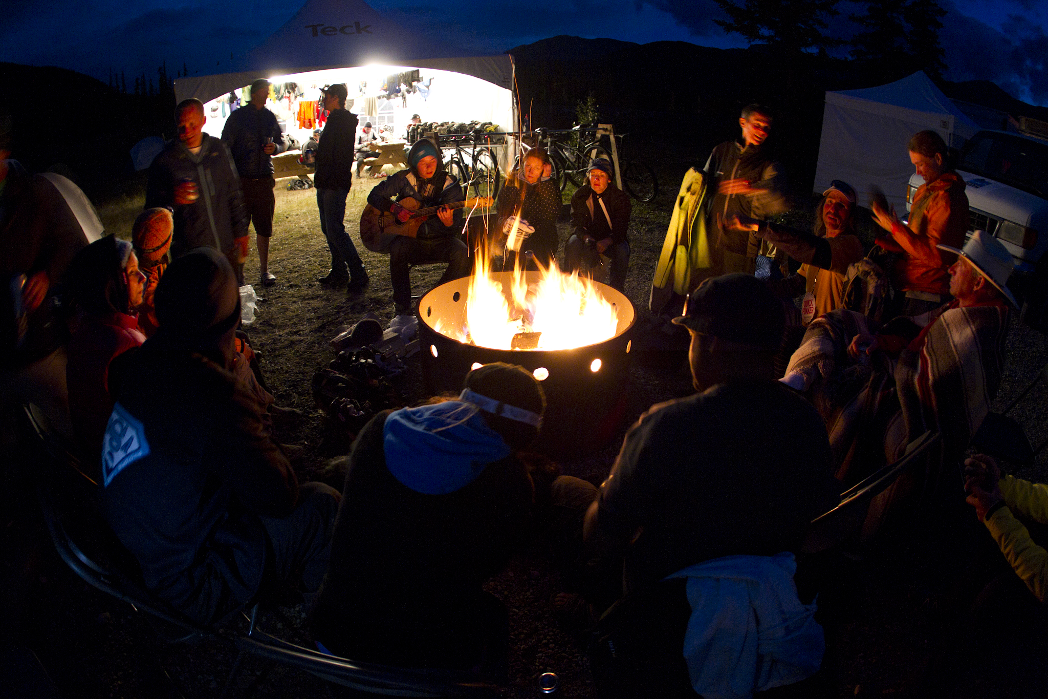 TransRockies mountain bike stage race – campfire