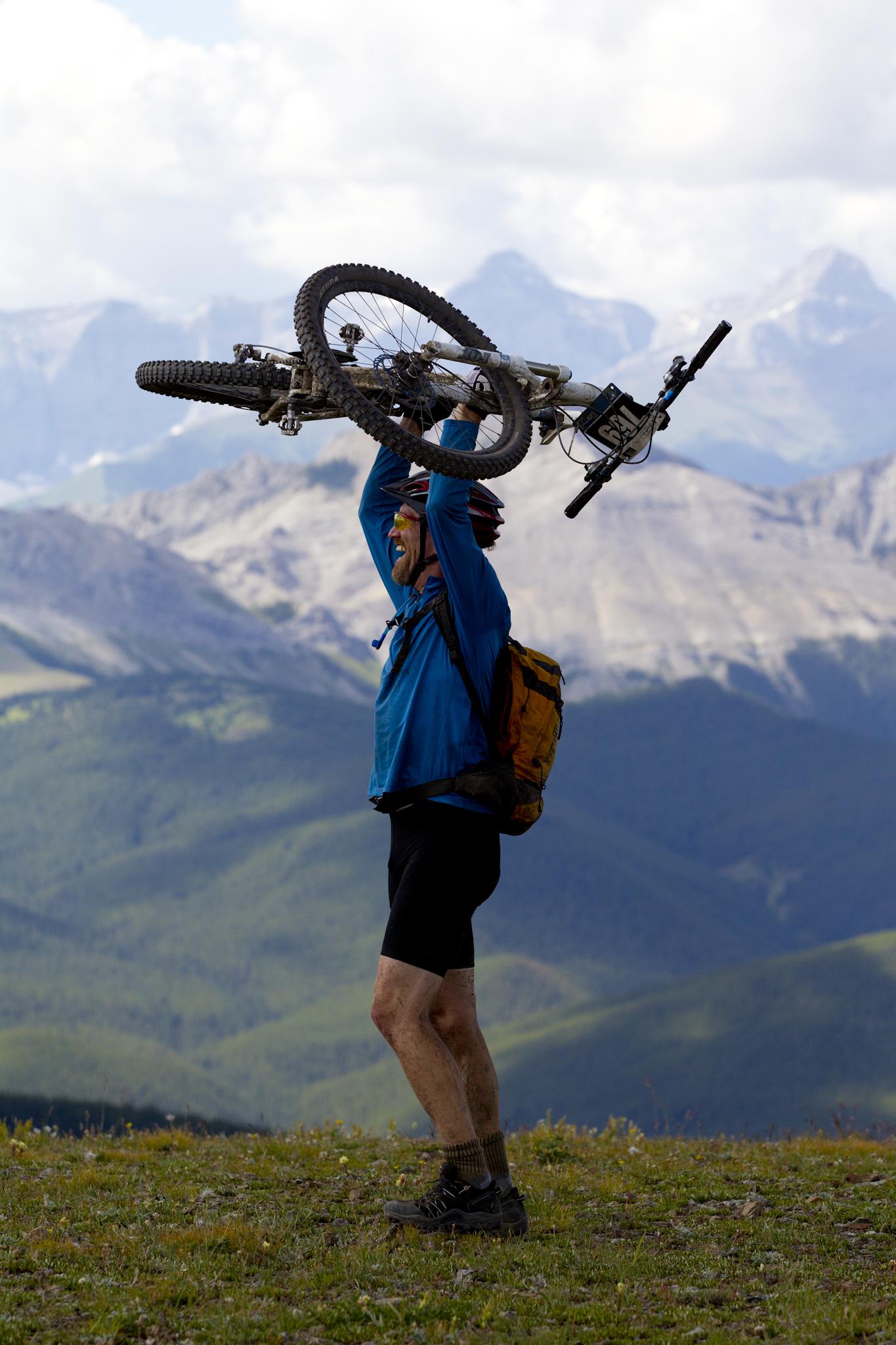 TransRockies Classic mountain bike stage race – top of Cox Hill, Alberta