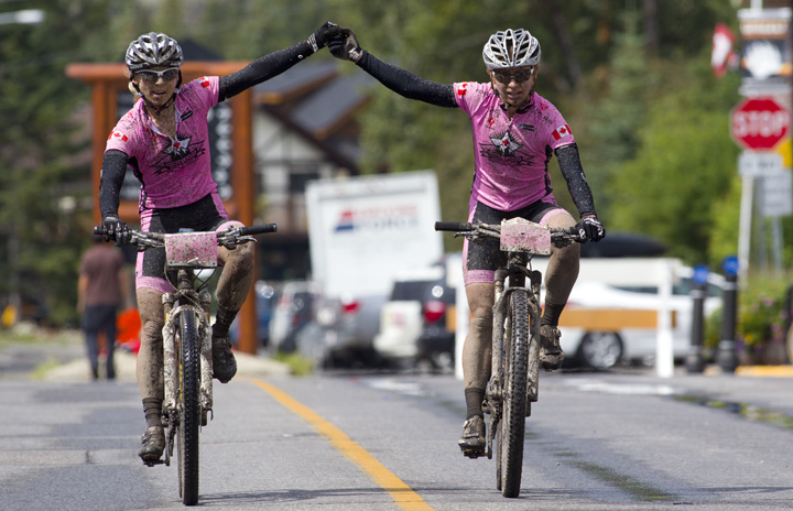 Finisher at the TransRockies Classic mountain bike stage race.