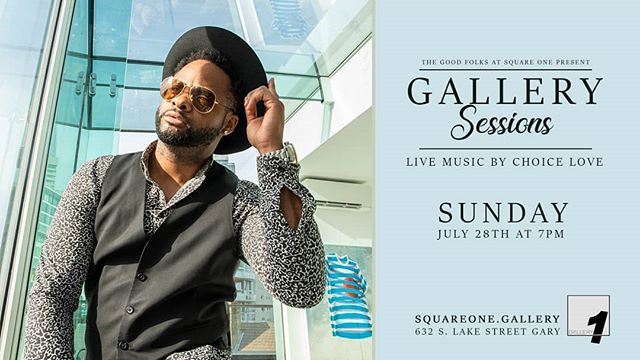 The Good Folks at SquareOne are bringing Gallery Sessions back in a major way with a special performance from @iamchoicelove on Sunday. Doors open at 7. Show starts at 730. BYOB. $10 You already know this is one you don't wanna miss. We'll see you on Sunday 🤙✌️ #GallerySessions  #notyouraveragegallery #livemusic #supportlocalartists #supportthearts #supportsmallbusiness#artistsofinstagram#SquareOne  #Artjunkies4eva