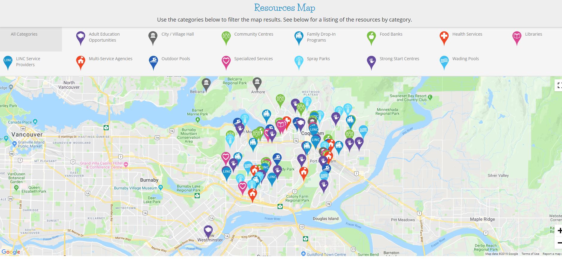Tri-Cities Kids Matter Resource Map -
