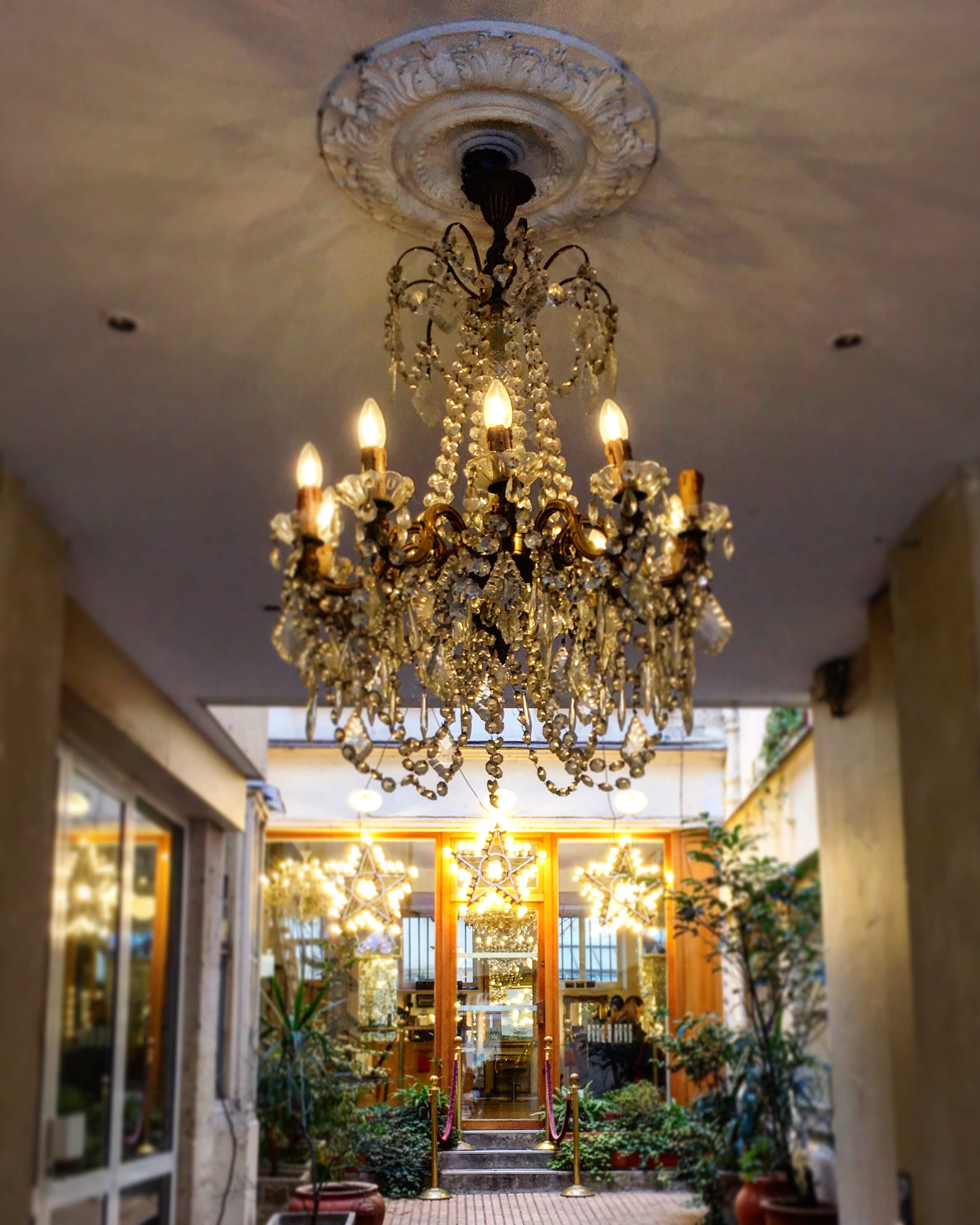 Outdoor chandelier… something you don't see every day!