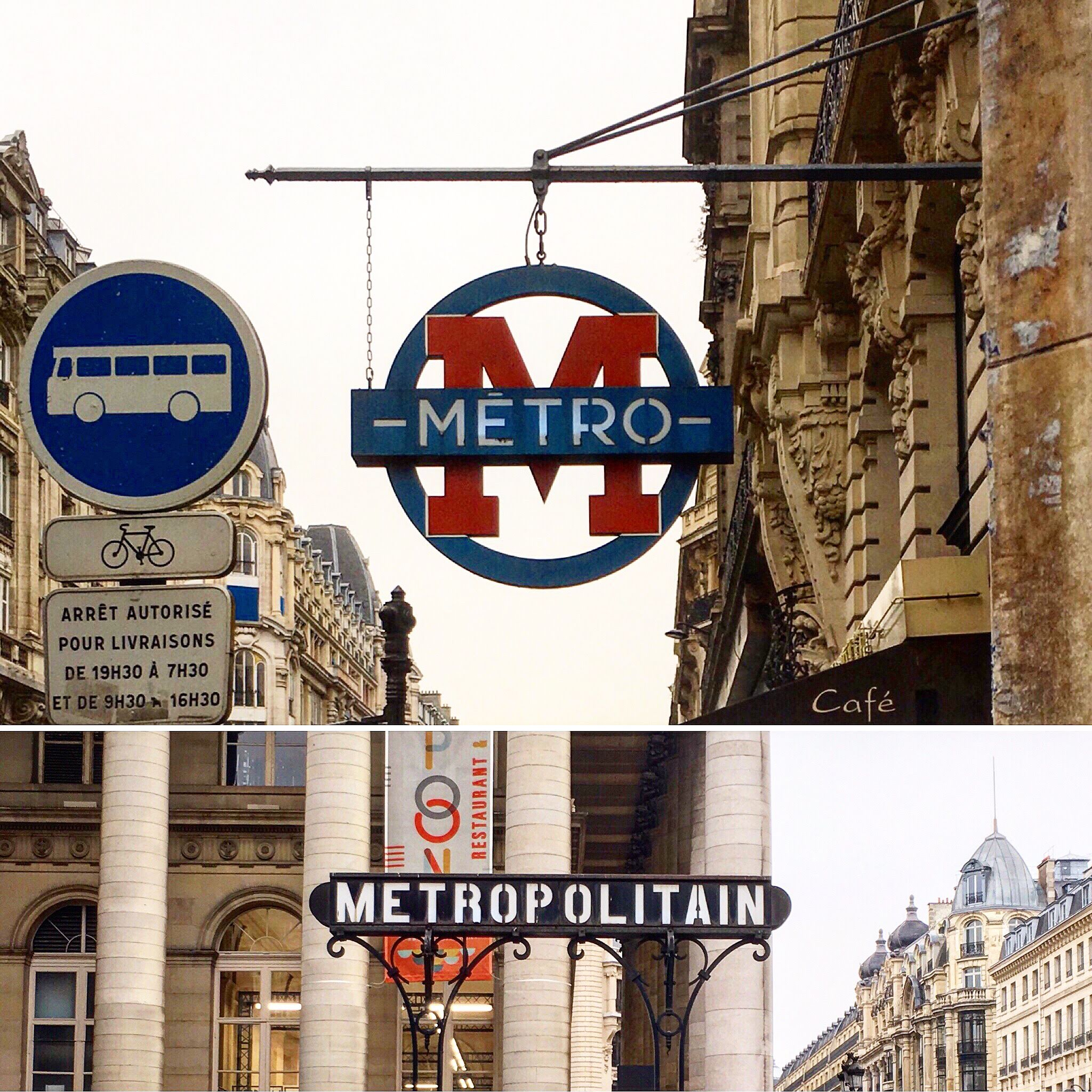 Some unique metro signs I spotted - especially love the top one!
