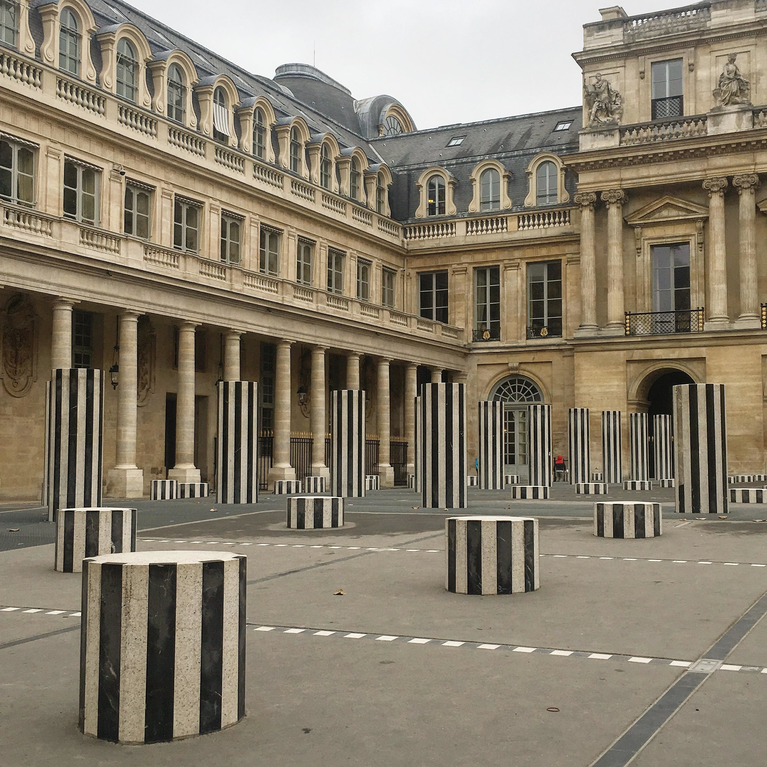 Colonnes de Buren at Palais Royal