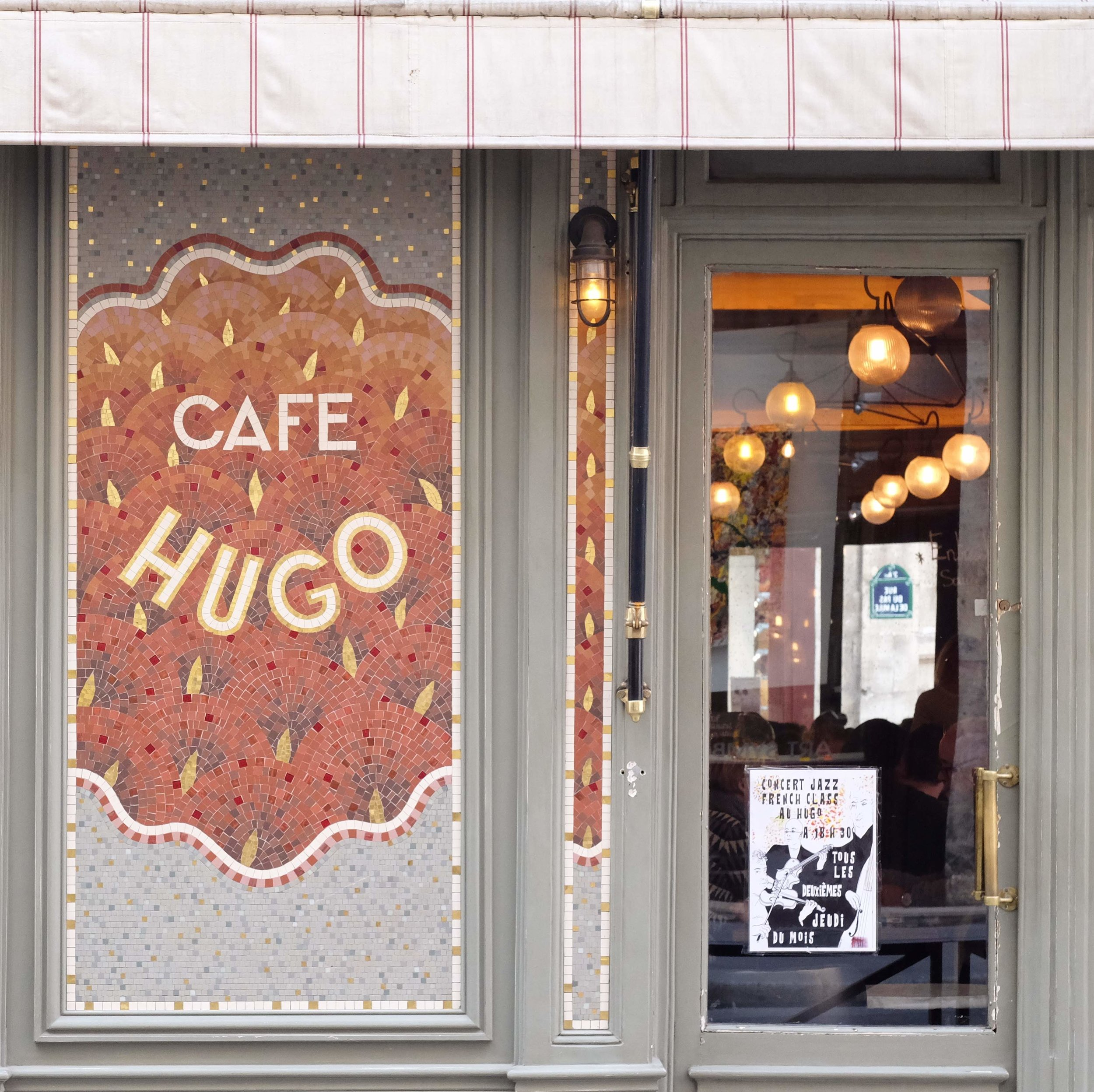 I had taken this on a previous visit to Paris, so attracted to Café Hugo's exterior. I'm glad I finally got to enjoy a meal here!
