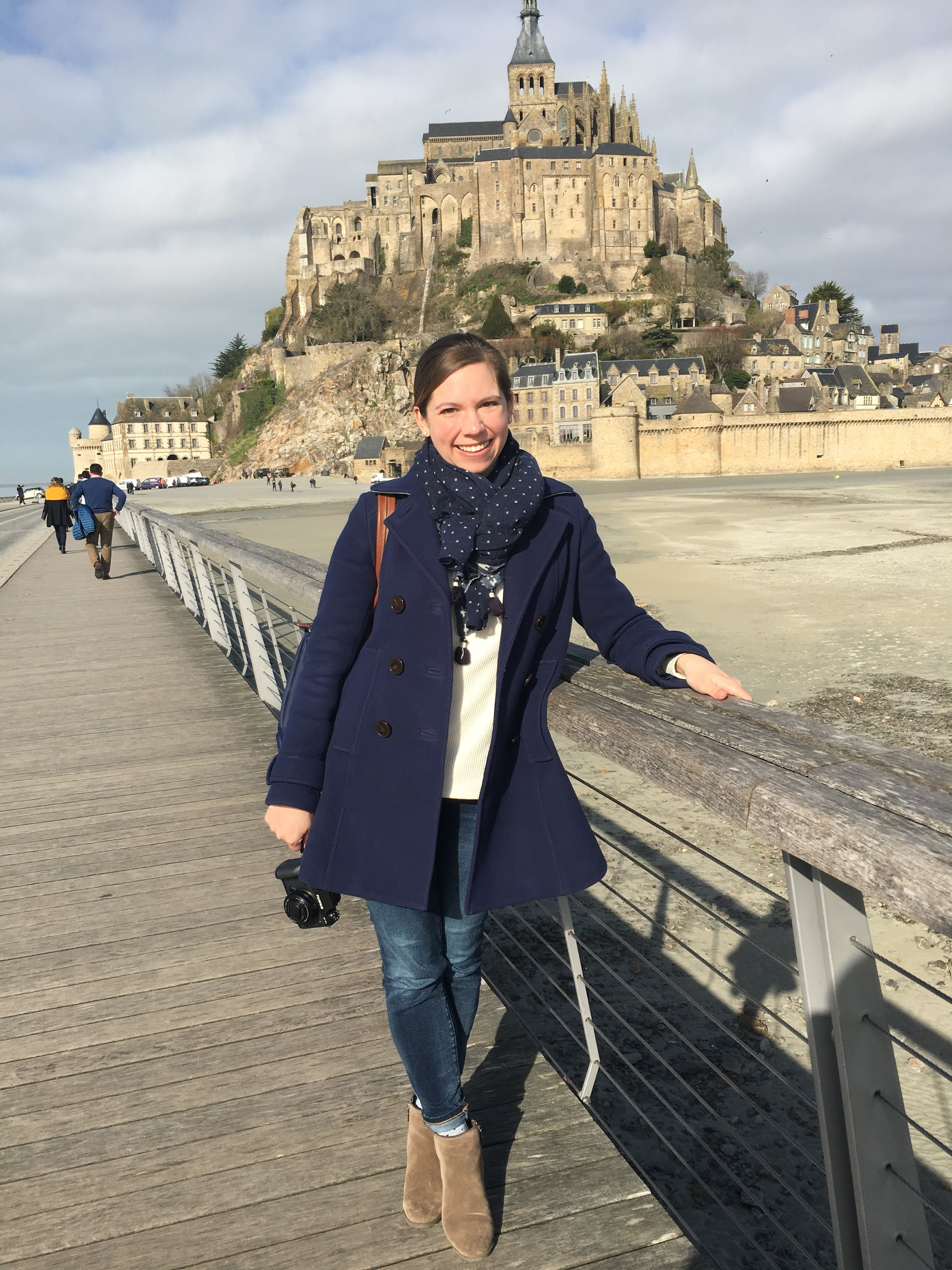 Photo of me taken by a kind English man who had visited Mont Saint Michel numerous times, and was so excited for me and my first visit.