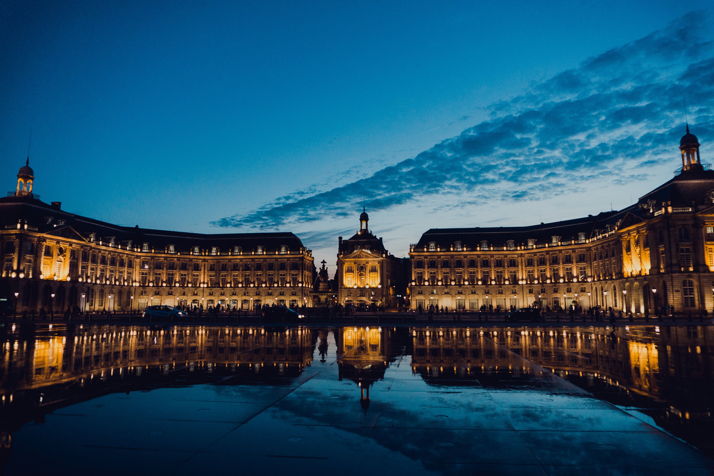 Note that this image and the cork image above are not my own but provided by Squarespace. I just wanted you to be able to see how stunning the  miroir d'eau  looks when the water is on!