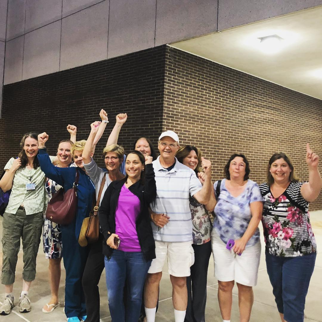 Pottstown Nurses celebrated their second union election victory.