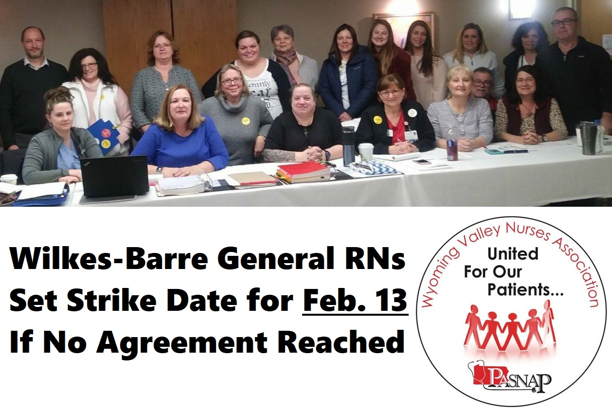 WVNA RN Bargaining committee with local union staff