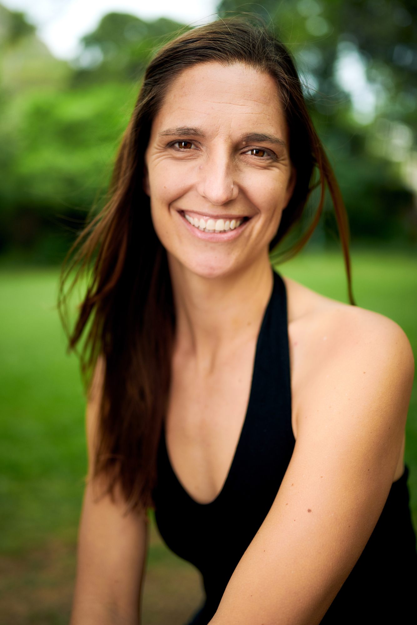 Sarah McTee - Sarah began practicing yoga in 2003. She left Hawaii for 11 years and during that time became a dedicated student of the Jivamukti style. Sarah's gratitude for all of the teachings she received inspired her to participate in the Jivamukti teacher training in New York. Studying with the founders, David Life and Sharon Gannon, and under the rigorous and inspiring mentorship of Andrea Boyd, Sarah received her Jivamukti certification in 2011 and began teaching in San Francisco shortly thereafter. Sarah augments her yoga practice and teachings with the study of Sanskrit, and has a level 1 Reiki certification with Eric Rueben. Sarah often offers kirtan and plays the harmonium in her classes. You can practice with her at Open Space Yoga. You can also find her co-hosting Yoga Unplugged events on Oahu.