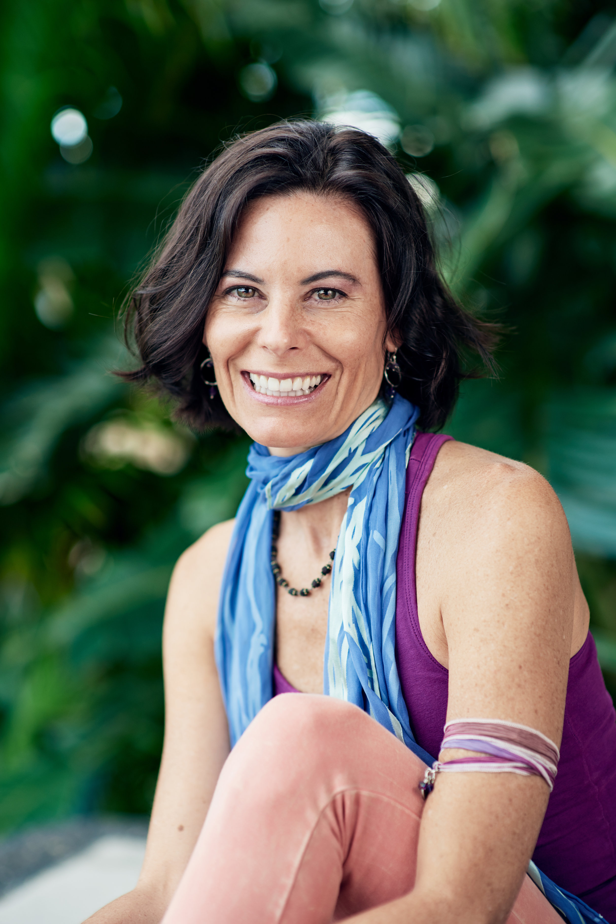 """Jennifer Reuter - Jennifer discovered yoga in 1998, after receiving her first copy of the Bhagavad Gita, and has been passionately inquiring yogic philosophy ever since. She studies extensively with many different teachers finding great value in exploring every style yoga has to offer. For 10 years she formally studied deep tantric meditation and was initiated as an """"acharya"""" and authorized teacher of Neelakantha Meditation by Blue Throat Yoga. She's also a level 2 certified Irest yoga nidra teacher. Jennifer has been leading teacher trainings and advanced yogic studies since 2009. You will find her classes, lectures and retreats """"interdisciplinary"""" inviting both ancient and modern day tools. Her teachings are intelligent, pragmatic and always heartfelt. Jennifer is the founder of Yoga Unplugged, a platform that brings teachers and healers together to host events and trainings. She believes that collaborating enables her to offer a wider variety of philosophies, teaching styles and healing modalities to her students and envisions a day when Yoga Unplugged is a brand that doesn't just belong to one person, but to many people spread across the world with the same core purpose."""