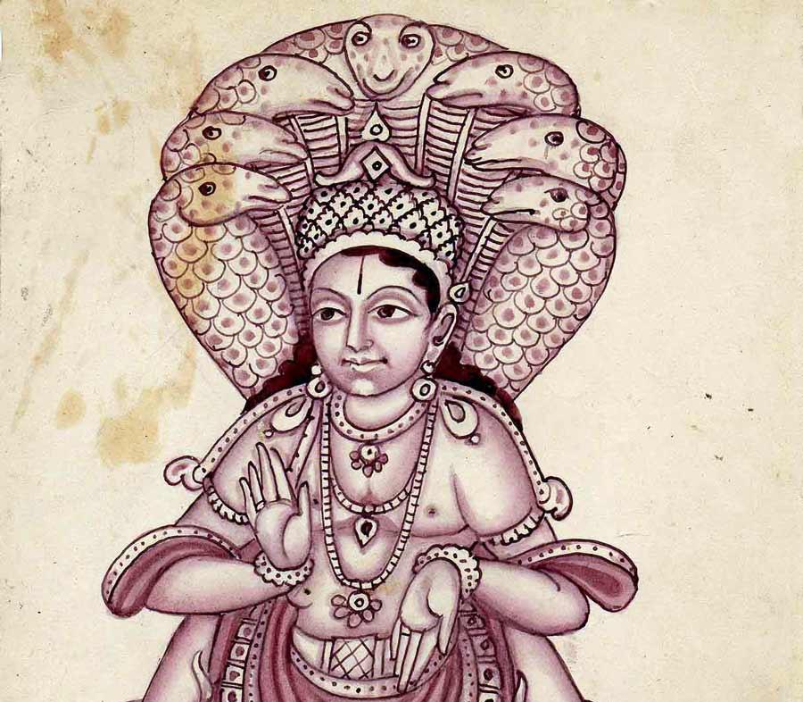 The Yogic sage Patanjali