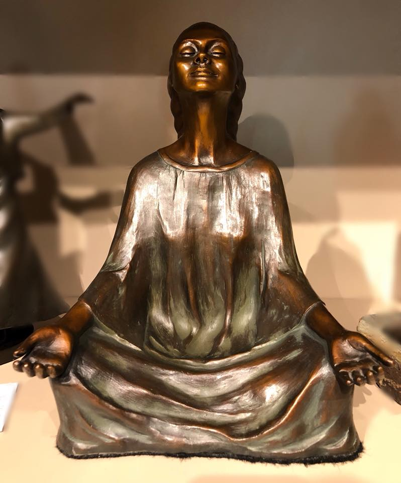Artist: Joan Baliker Name of Sculpture: PEACE (from a collection entitled Peace Seekers)  http://joanbaliker.com/index.html