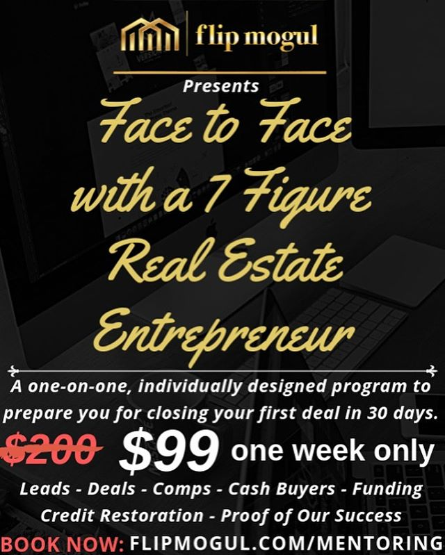 Why aren't you flipping houses yet? $99 mentoring in Houston, no excuses now! This week only. www.flipmogul.com/mentoring