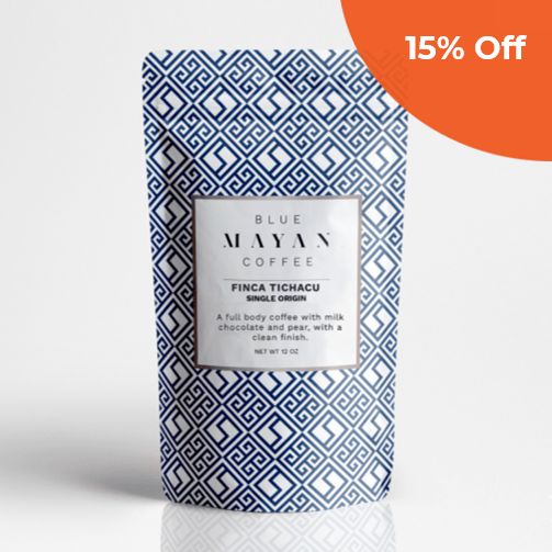 Finca Tichacu     Blue Mayan Coffee $14.00   Save 15% off your order  with promo code:  BMCDG18
