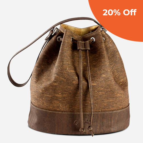 Cork Bucket Bag   Corkor  $144.50   Save 20% off orders over $100  with promo code:  corkordonegood20