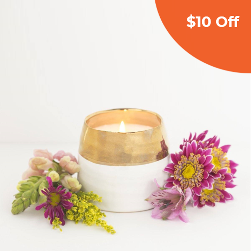 Adelaide Candle   Prosperity Candle $30.00   Save $10 off orders over $50  (one-time use) with promo code:  DoneGood10