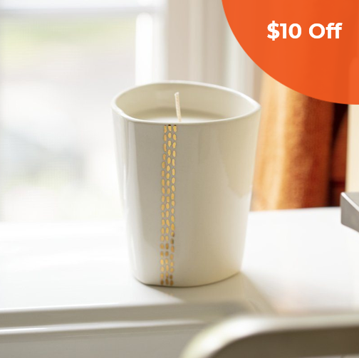 Linnea Gold   Prosperity Candle $58.00   Save $10 off orders over $50  (one-time use) with promo code:  DoneGood10