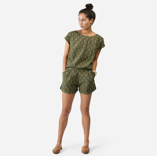 The All Day Romper + Falcon Olive     MATTER   $139.00