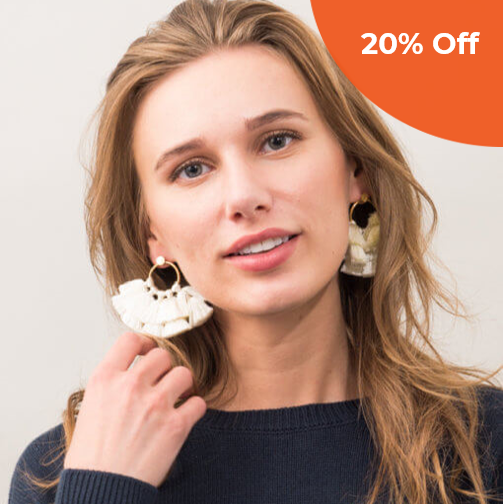 Elijah White Tassel Earrings   Starfish Project $59.99   Save 20% off your first order  with promo code: donegood