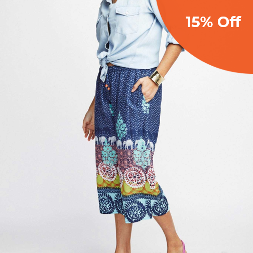 Bhara Capri   Sudara $49.00   Save 15% off your first order  with promo code: DoneGood15