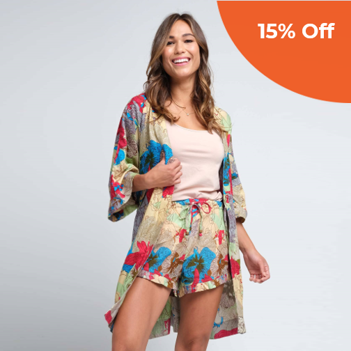 Anju Robe - Girlfriend Cut   Sudara $79.00   Save 15% off your first order  with promo code: DoneGood15