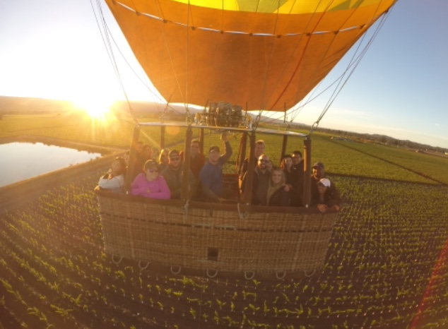 Picture taken from the camera mounted to our balloon @napavalleyballoons #flynapavalley #napavalleyballoons