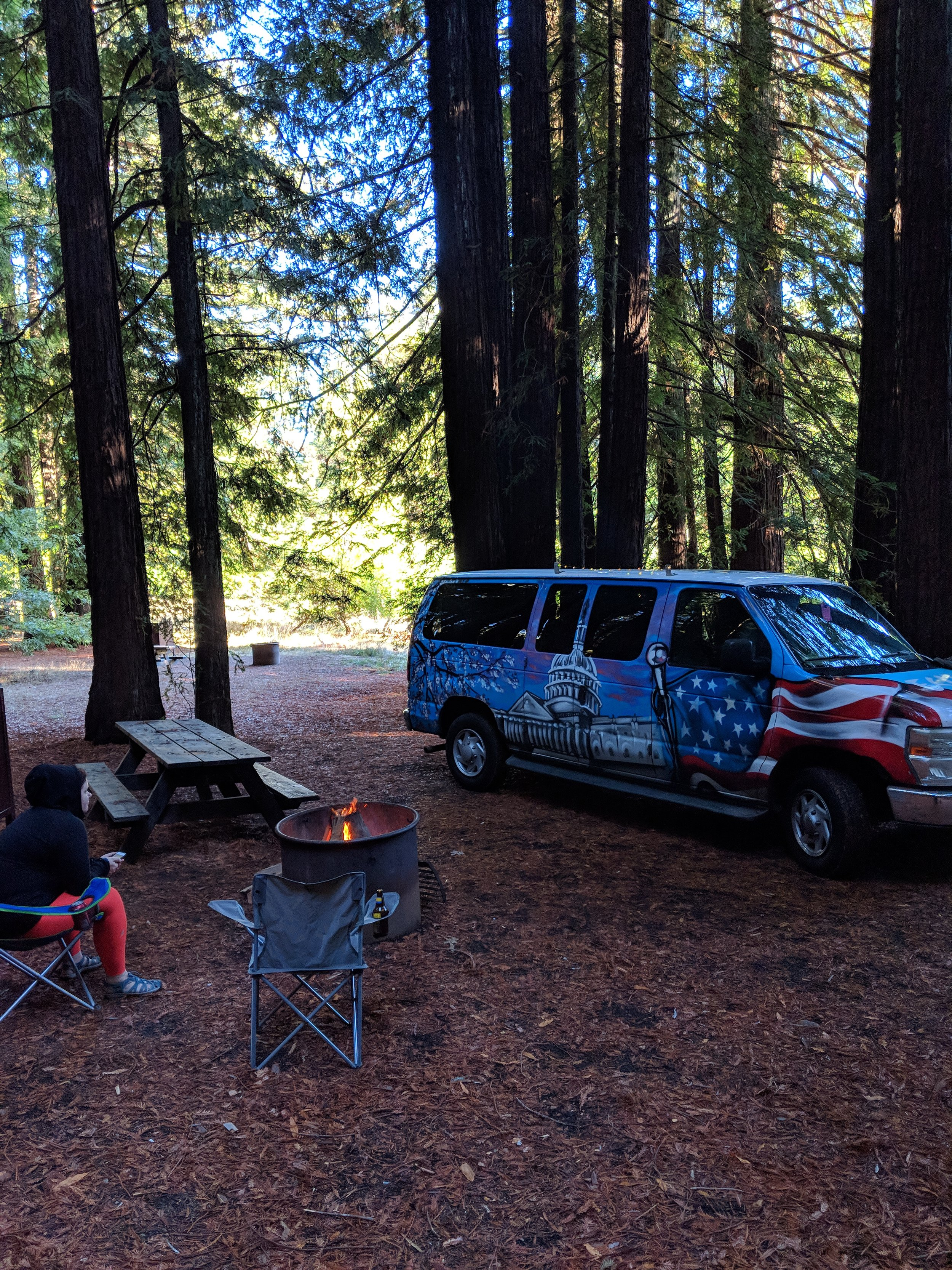 Campsite at Albee Campground in Humboldt Redwoods State Park