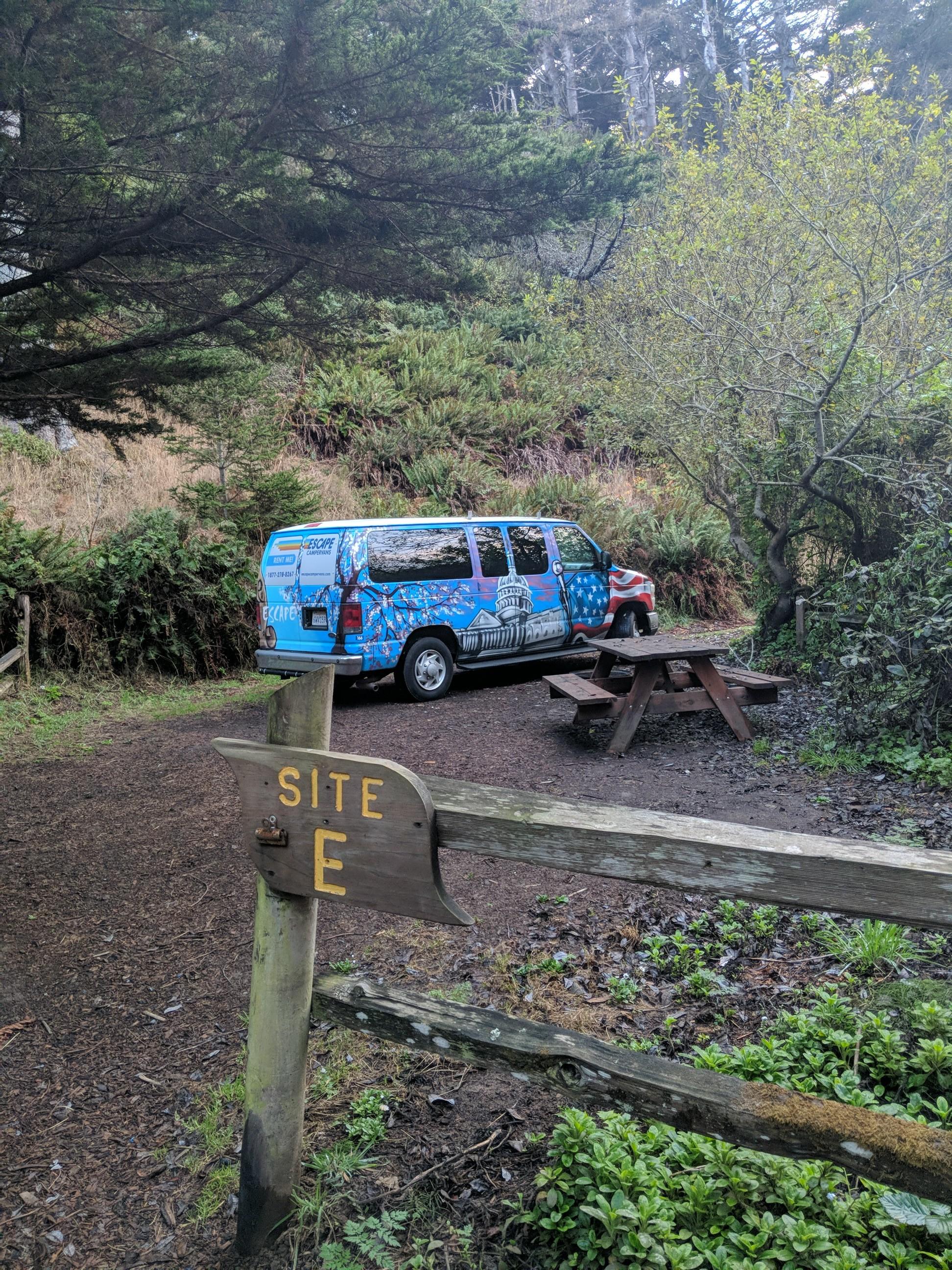 Campsite at Caspar Beach RV Park and Campground