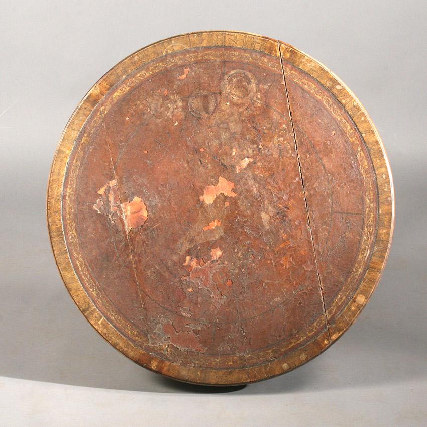 Drum table top seen before restoration