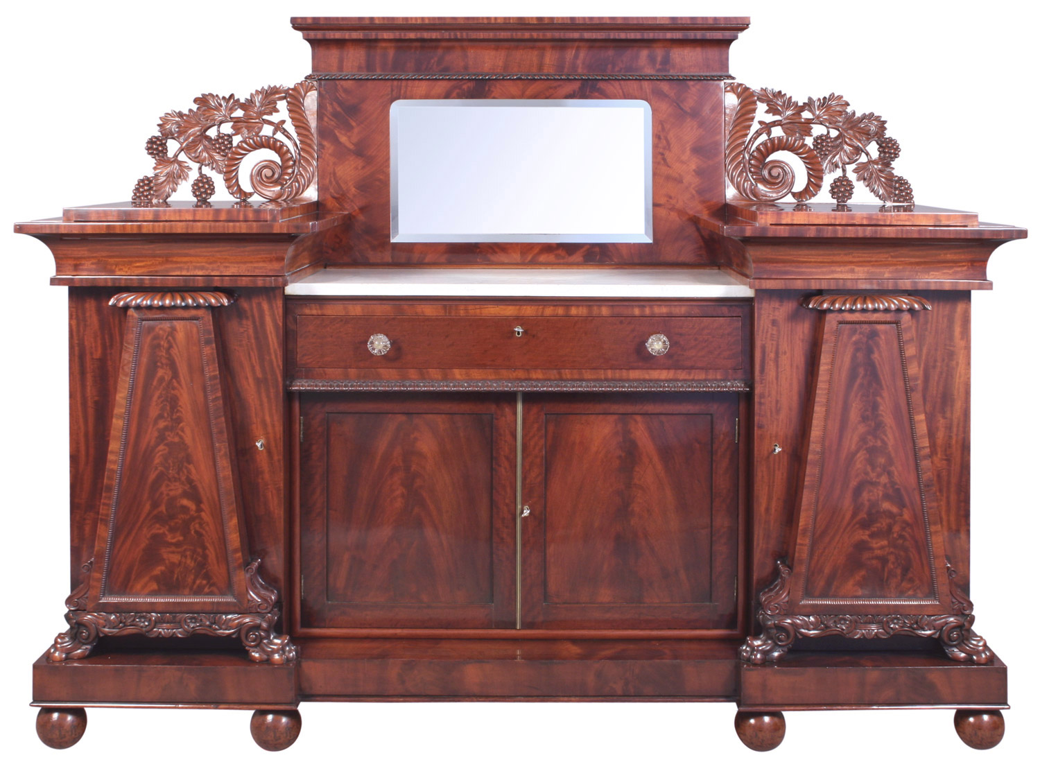 Empire Style American Sideboard after treatment